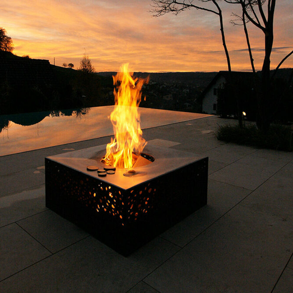 FLAMMENGRILL ROTUNDITAS Corten