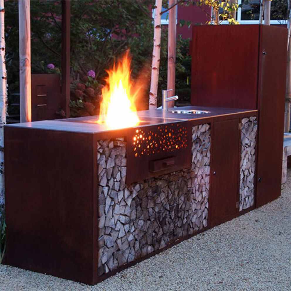 FLAMMENGRILL CULINA Outdoorküche Corten